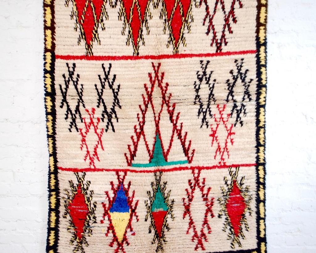 Moroccan Berber Rug - 4′ × 6′8″