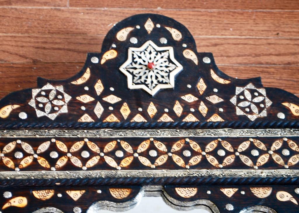 Moroccan Star Bone Inlaid Mirror
