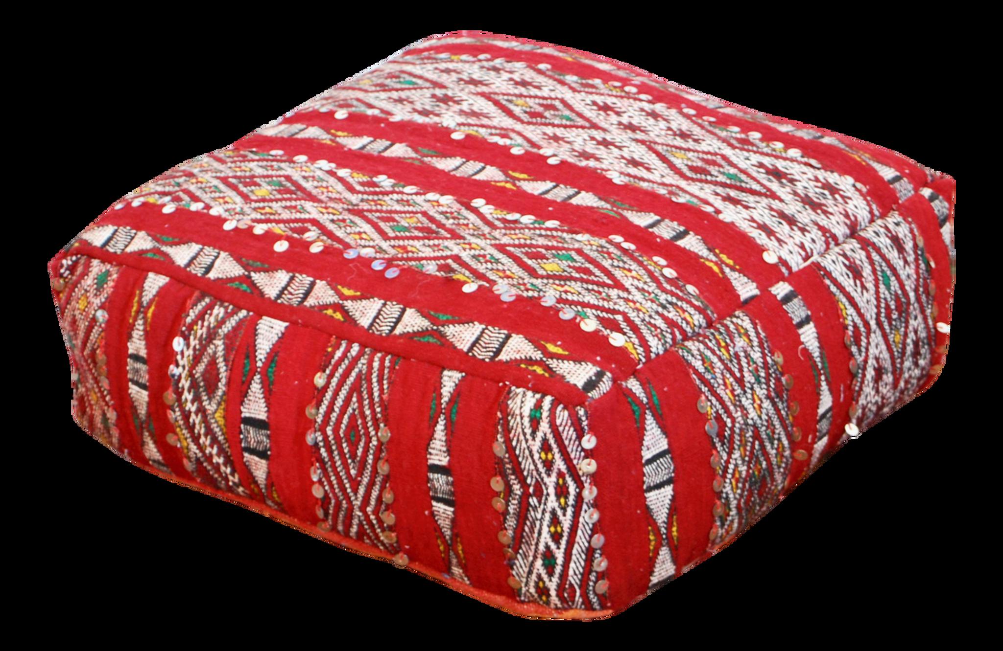 Moroccan Kilim floor pillow| kilim Rug Pouf | berber Rug Ottoman ...