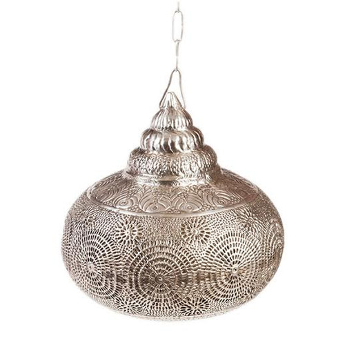Moroccan Silver Hanging Lamp