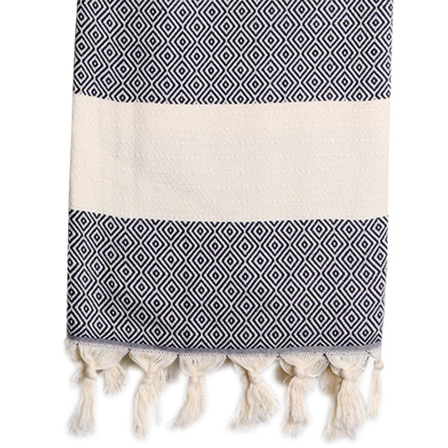 Turkish Hammam Towel Black