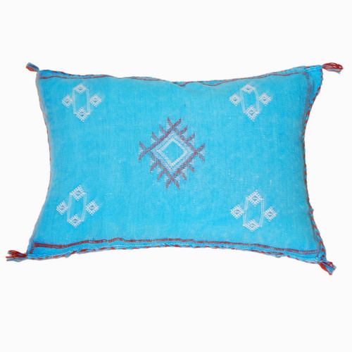 Moroccan Berber Sabra Throw Pillow, Turqoise