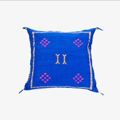 Sabra Throw Pillow, Cobalt  Blue