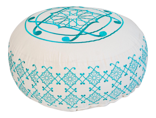Selima Floor Pillow, Turquoise