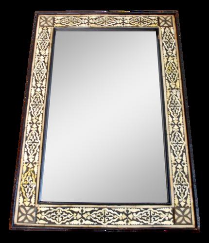 Moroccan White Bone Inlaid Mirror