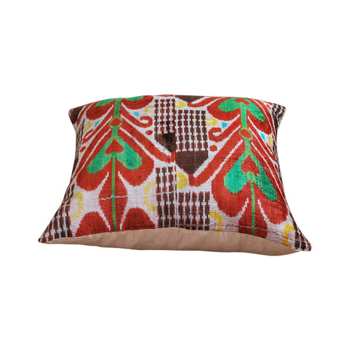 Silk Velvet Ikat Floor Pillow