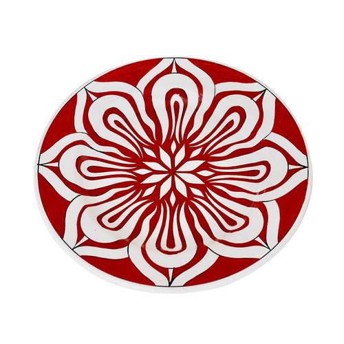 Turkish Red Tulip Iznik Plate
