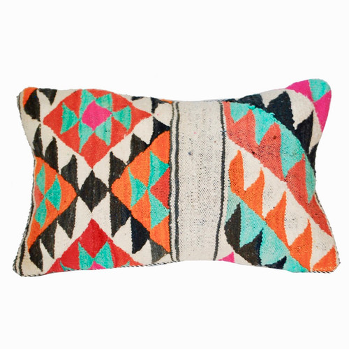 Moroccan Graphic Rug Pillow , Moroccan Rug Throw Pillow