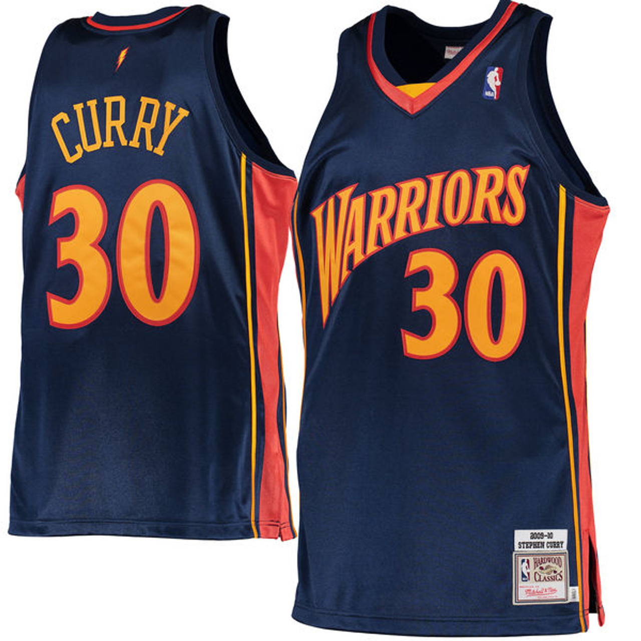 Stephen Curry Golden State Warriors Mitchell & Ness 2009-10 Hardwood Classics Rookie Authentic ...