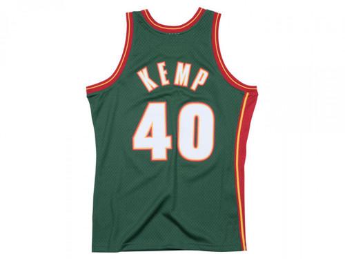 402008c09 Shawn Kemp Seattle SuperSonics Green 1995-96 Swingman Jersey ...