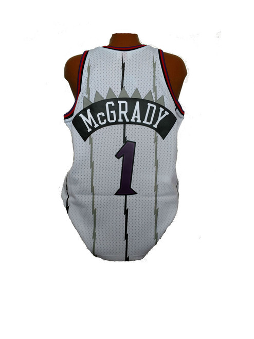 f4ba2e0cf Men s Toronto Raptors Tracy McGrady Mitchell   Ness Home White 1998-99 Hardwood  Classics Swingman Jersey