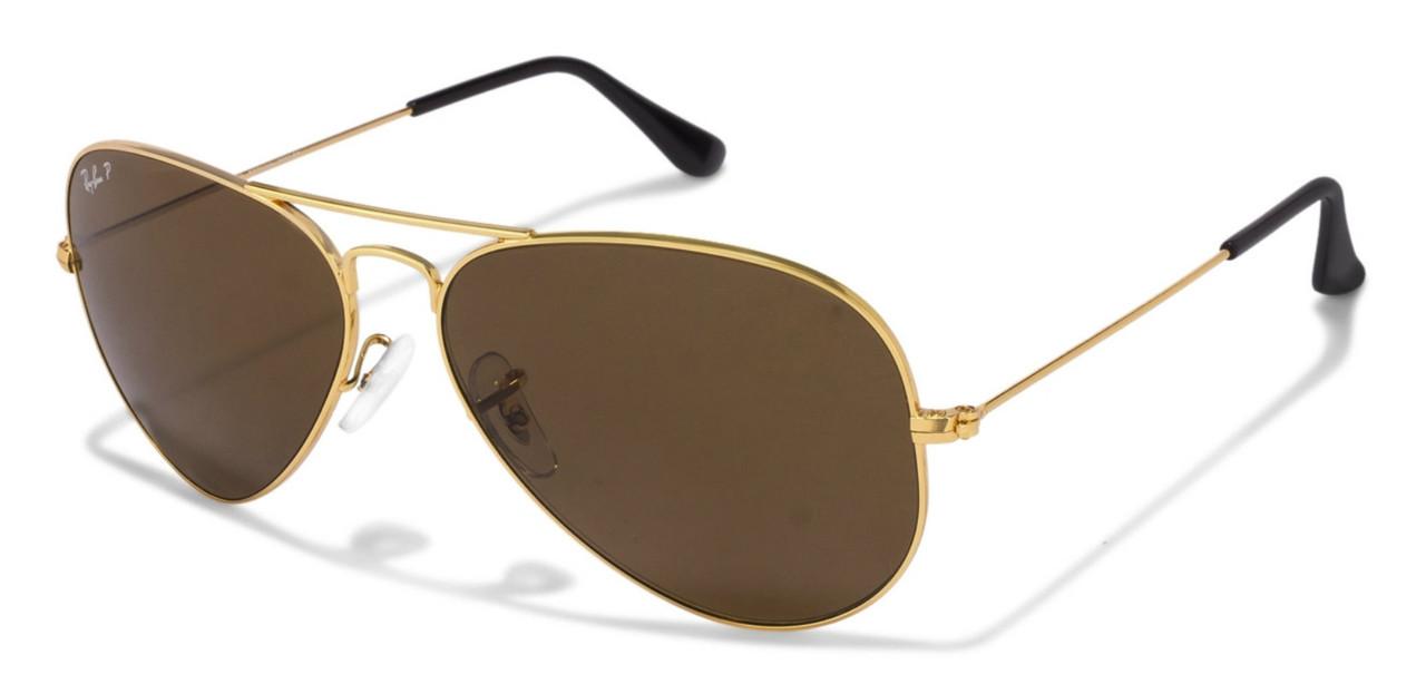RB3025 001/57 Ray-Ban Aviator Classic Gold Metal BRN Lenses Sunglasses