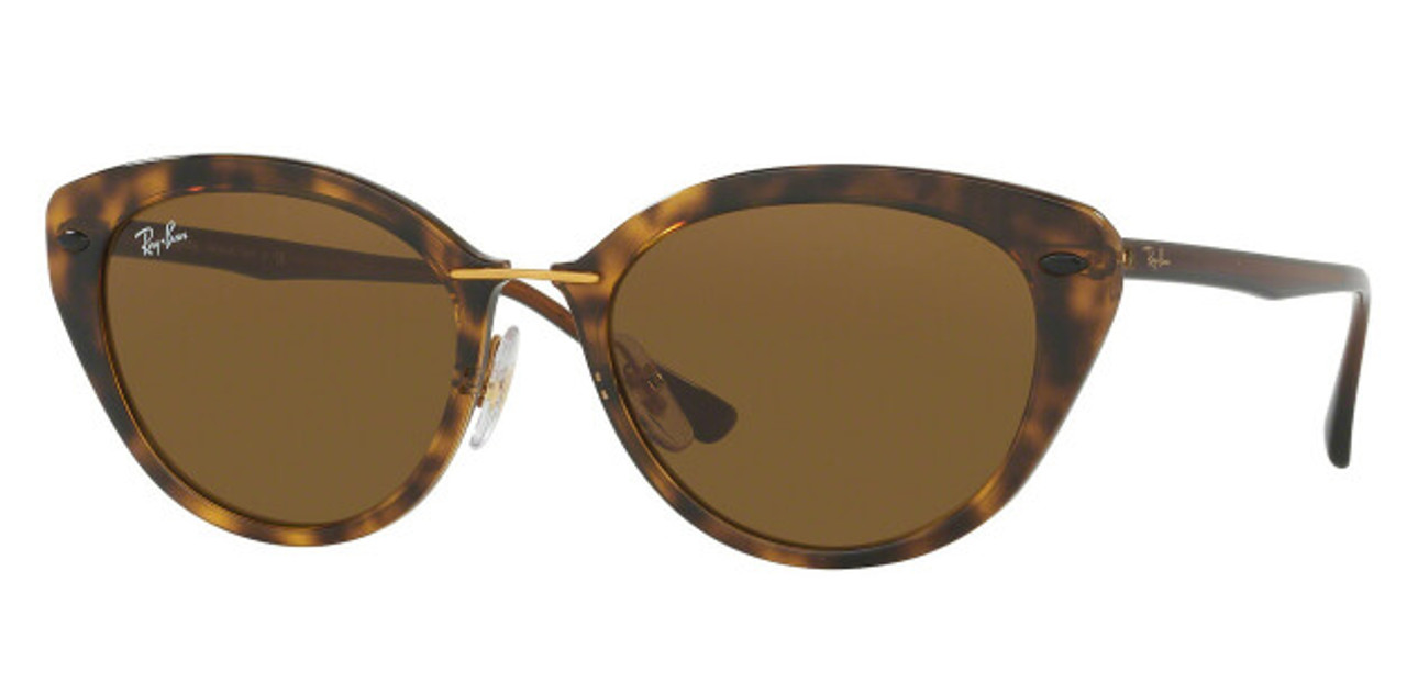 81e60477766 Details about Ray-Ban Cat Eye Brown Havana Classic 52MM B15 Ladies Sunglasses  RB4250 710 73