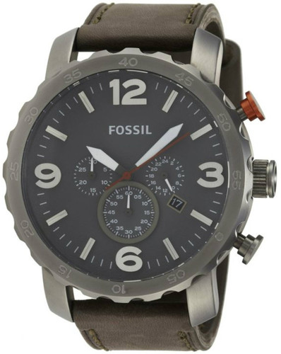 Fossil JR1419 Nate Men's Grey Leather Watch