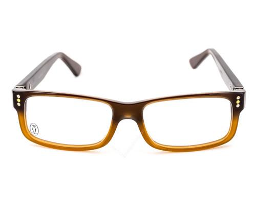 Cartier Premiere Two-Tone Cognac-Color Women's Eyewear T8100953