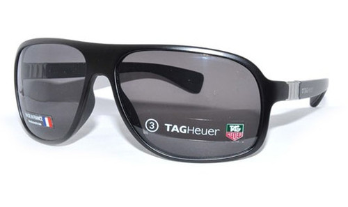 TAG Heuer 9303 101 Legend All-Black Men's Perfect-Hold Oval Sunglasses