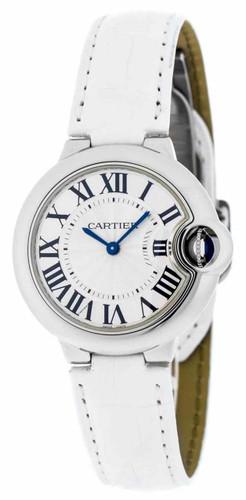 Cartier Ballon Bleu 33mm Quartz Alligator Strap Women's Watch W6920086