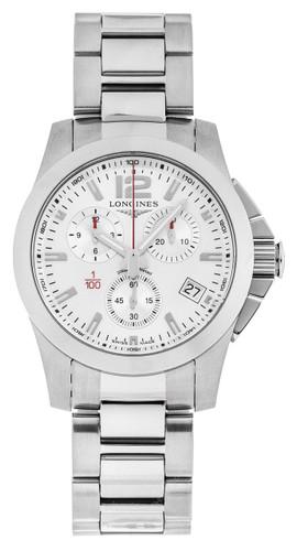 Longines Conquest 41mm Quartz Chronograph SS Men's Watch L37004766