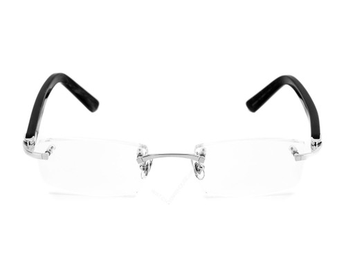 Cartier Remo Rimless BLK Mosaic Platinum Optical Glasses T8100947