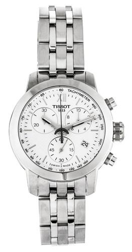 Tissot PRC200 Chronograph WHT Dial Steel Women's Watch T0552171101800