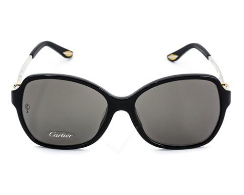 Cartier Trinity Black Composite Gray Lens Women's Sunglasses T8201069