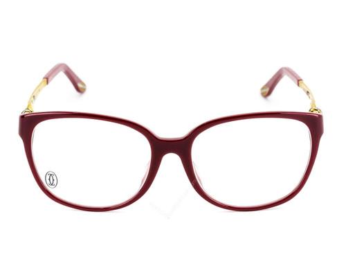 Cartier Trinity Burgundy Gold Metal Women's Optical Glasses EYE00029