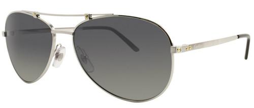 Cartier Santos Gray Flash Lenses Aviator Metal Men Sunglasses ESW00134
