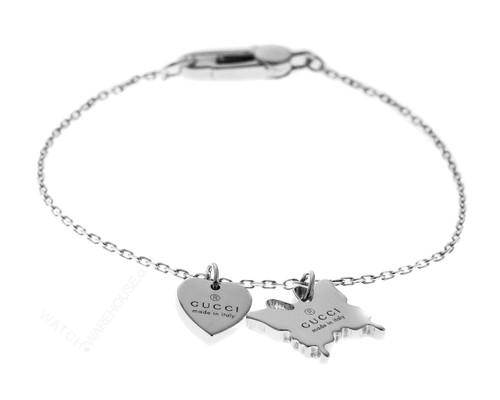 Gucci TM Silver Heart Butterfly Bracelet YBA223516001 / YBA223516001017