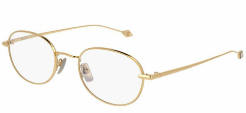 Brioni Shiny Endura Gold Metal Oval Optical Frame Eyewear BR0028O-001