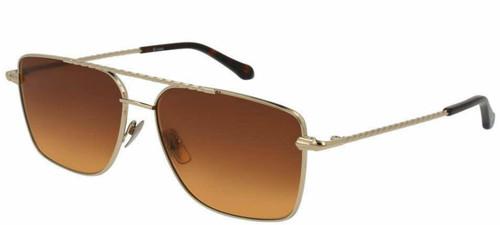 Brioni Shiny Gold Nylon Metal Brown Lenses Sunglasses BR0029S-003