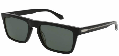 Brioni Black Acetate Rectangular Grey Lenses Sunglasses BR0030S-001