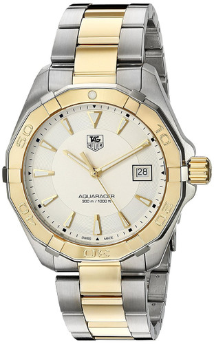 Tag Heuer Aquaracer Silver Dial Quartz 2 Tone SS Watch WAY1120.BB0930