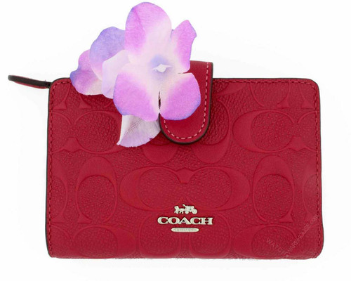 Coach Hot Pink Signature Embossed Bifold Wallet 225271JAX/F29439SV/HP
