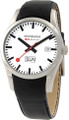 Mondaine A667.30340.11SBB Basics Retro Men's Leather Date-Day Watch