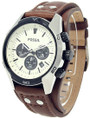 Fossil Coachman Chronograph Cuff Leather Men's Watch CH2890