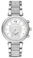 Michael Kors Silver Sawyer MK6281 Crystal Paved Dial Women's Watch