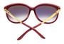 Cartier Trinity Burgundy 3T Finish Decor Women's Sunglasses ESW00039