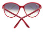 Cartier Double C Décor Burgundy Composite Women's Sunglasses ESW00111