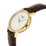 Tissot Everytime SM Yellow Gold PVD Leather Women Watch T1092103603100
