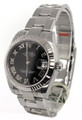Rolex DateJust 31 Black Dial Roman Fluted Oyster Women's Watch 178274