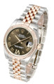 Rolex Datejust 31 Chocolate Dial Large VI Diamonds RG Watch 178271