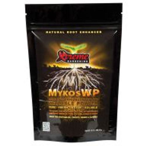 Xtreme Gardening Mykos WP (wettable powder) is a versatile, highly effective milled version of Mykos that rapidly inoculates plants. Mykos WP can be applied as a supplemental source of mycorrhizae to plants that have been inoculated with Mykos but have since been treated with multiple applications of conventional chemical fertilizers.
