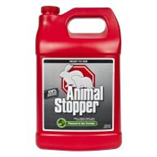 Animal Stopper is a highly effective formula for preventing armadillo, gopher, groundhog, rabbit, raccoon and skunk damage to all shrubs, flowers, edible crops and turf areas. With rosemary oil, mint oil, cinnamon oil and putrescent whole egg solids as active ingredients, this product works by smell, taste and feel. Lasts for approximately 30 days, regardless of weather. Covers an area of 4,000 sq ft.