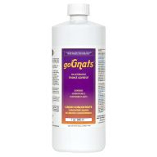 goGnats is a poison-free alternative for the control of oil-fungus gnats, mites, aphids, moths, and other garden and hydroponic pests that may be used as a plant and area spray, added to nutrient reservoirs, or used as a soil drench. It can be added directly to reservoirs on a regular basis as part of a plant maintenance program, and used indoors and out. goGnats is exempt from EPA registration under section 25(b) of FIFRA. Not for sale in IN, KY, MS, TN, and VT.