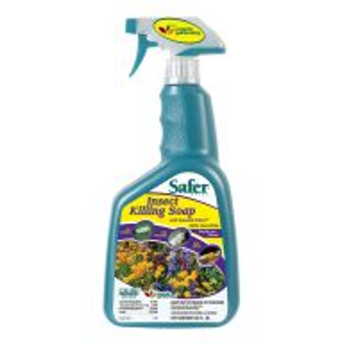 Safer® Insect Killing Soap® is a good solution for tough insect pest infestations and works on contact without any residual effect. Thoroughly spray onto affected plants every seven to 10 days. Apply at least three times to break the pests' reproductive cycles.