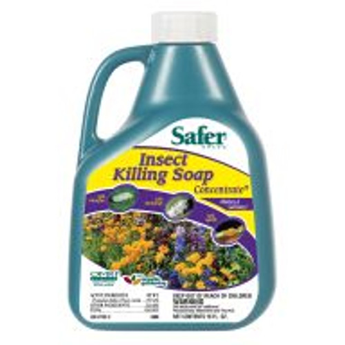 Safer Insect Killing Soap is a good solution for tough insect pest infestations. It works as a contact insecticide and has no residual effect. Gardeners just thoroughly spray a diluted mixture onto their plants every 7-10 days and apply at least three times to break the pests' reproductive cycle.