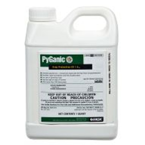 PyGanic Crop Protection can be used for quick control of a broad spectrum of insect populations. The active ingredient is pyrethrins, a botanical insecticide derived from chrysanthemums. This product is suitable for organic crop production.