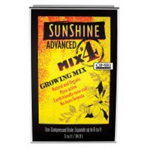 The foundation of Sunshine® Advanced Mix #4 is Canadian Sphagnum peat moss, sustainably harvested from carefully managed bogs in rural Canada. The peat moss is blended with horticultural grade perlite, coir, dolomitic lime, a starter organic fertilizer, mycorrhizae and an organic wetting agent to complete the mix. Lime adjusts the pH for optimum fertilizer availability, the starter organic fertilizer helps transplants establish, mycorrhizae assists in fertilizer uptake and the organic wetting agent helps peat moss absorb water better.