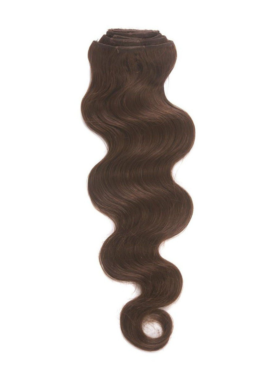 Malaysian 4 Chocolate Brown Clip In Hair Extensions Cresi Hair