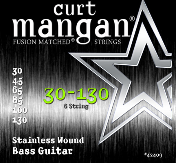 30-130 Stainless Wound 6-String Set